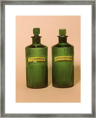 Medicine Bottles Framed Print by Science Photo Library