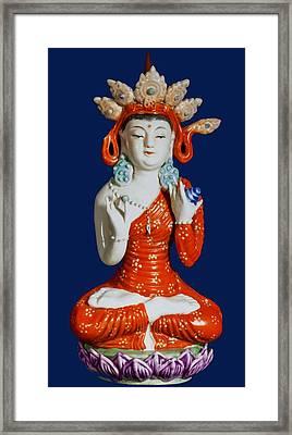 Medicine Buddha 2 Framed Print by Lanjee Chee
