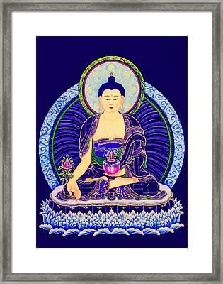 Medicine Buddha 6 Framed Print by Lanjee Chee