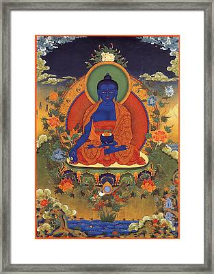 Medicine Buddha 8 Framed Print by Lanjee Chee