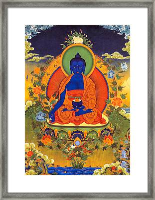 Medicine Buddha Framed Print by Lanjee Chee