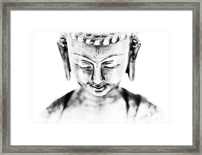 Medicine Buddha Monochrome Framed Print by Tim Gainey