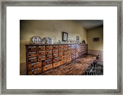 Medicine Cabinet Framed Print by Adrian Evans