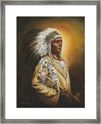 Medicine Chief Framed Print by Kim Lockman
