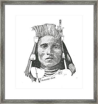 Medicine Crow Framed Print by Clayton Cannaday