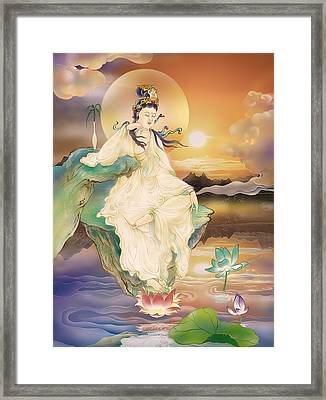 Medicine-giving Kuan Yin Framed Print by Lanjee Chee