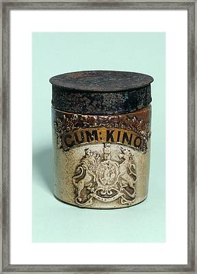 Medicine Jar Framed Print by Science Photo Library