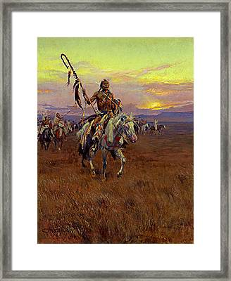 Medicine Man Framed Print by Charles Marion Russell