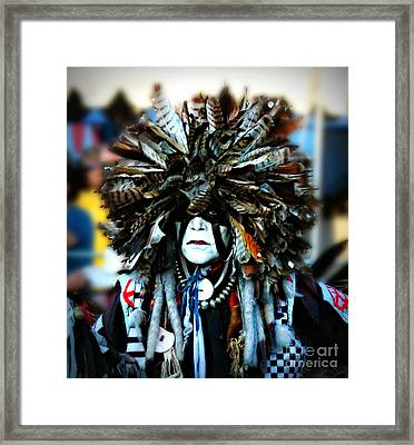 Medicine Man Headdress Framed Print by Scarlett Images Photography
