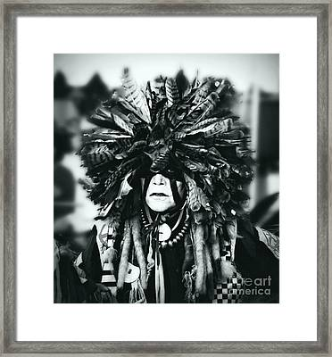 Medicine Man Silver Screen Framed Print by Scarlett Images Photography