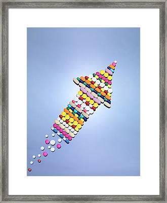 Medicine Rocket Framed Print by Tek Image