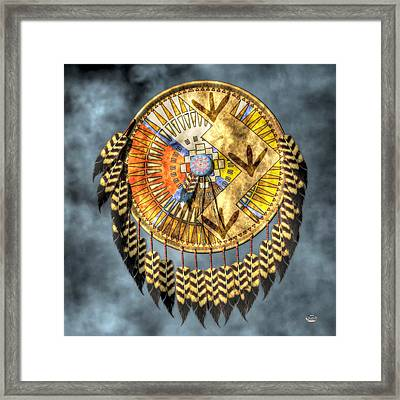 Medicine Shield Framed Print by Daniel Eskridge