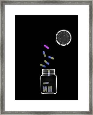 Medicine Under X-ray Framed Print