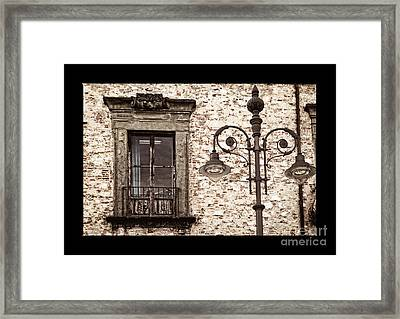 Medieval And Modern Framed Print