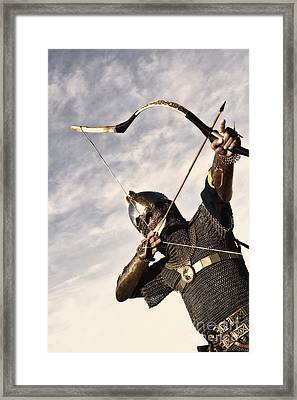 Medieval Archer Framed Print by Holly Martin