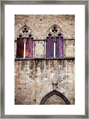 Medieval Architecture In Siena Italy Framed Print by Kim Fearheiley