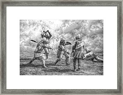 Medieval Battle Framed Print by Jaroslaw Grudzinski