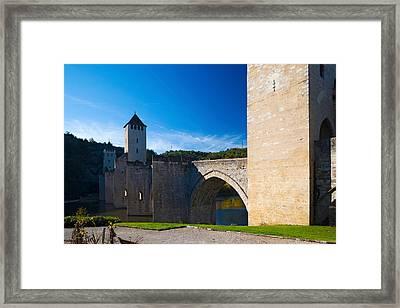 Medieval Bridge Across A River, Pont Framed Print