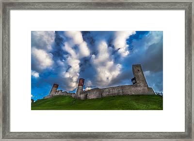 Medieval Castle In Checiny In Poland Framed Print