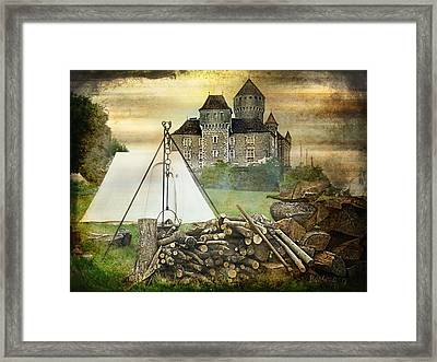 Medieval Castle Of Montrottier - France Framed Print by Barbara Orenya
