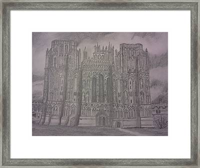 Framed Print featuring the drawing Medieval Cathedral by Christy Saunders Church