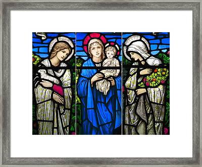 Medieval Cathedral Glass Framed Print by Daniel Hagerman