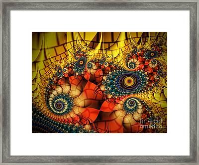 Medieval Ceremonial-fractal Art Framed Print