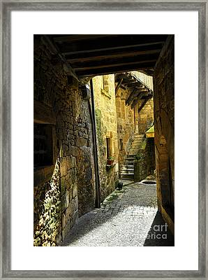 Medieval Courtyard Framed Print