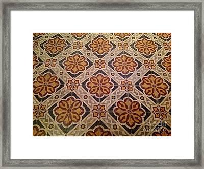 Medieval Tiles Framed Print by France  Art