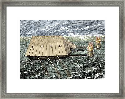 Medieval \greek Fire\ Warship Framed Print by Sheila Terry