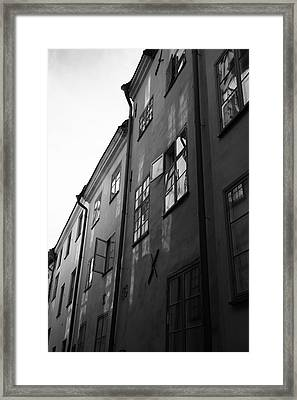 Medieval Houses - Monochrome Framed Print by Ulrich Kunst And Bettina Scheidulin