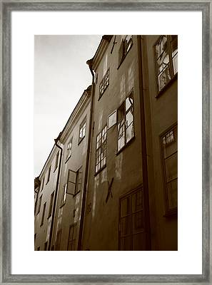 Medieval Houses - Sepia Framed Print by Ulrich Kunst And Bettina Scheidulin