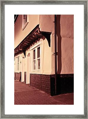 Medieval Houses Framed Print by Tom Gowanlock