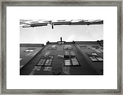 Medieval Houses With Open Window - Monochrome Framed Print by Ulrich Kunst And Bettina Scheidulin