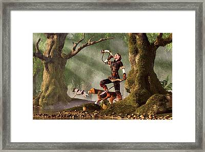 Medieval Huntress Framed Print by Daniel Eskridge