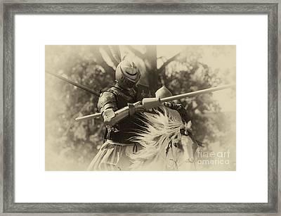 Medieval Jousting Framed Print by Bob Christopher