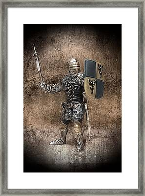 Framed Print featuring the photograph Medieval Knight by Aaron Berg