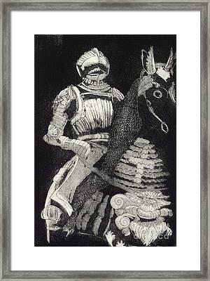 Medieval Knight On Horseback - Chevalier - Caballero - Cavaleiro - Fidalgo - Riddare -ridder -ritter Framed Print