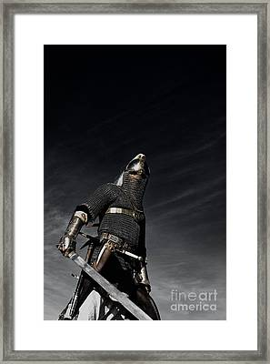 Medieval Knight With Sword  Framed Print