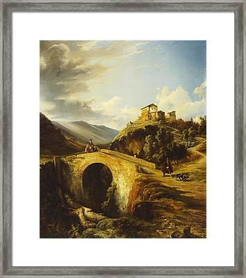 Medieval Landscape Framed Print