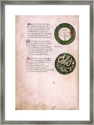 Medieval Maps Framed Print