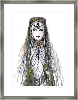 Medieval Princess Framed Print by Marian Voicu