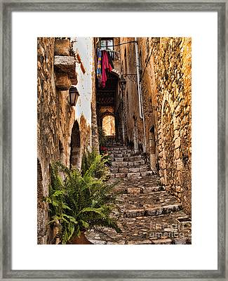 Medieval Saint Paul De Vence 2 Framed Print by David Smith