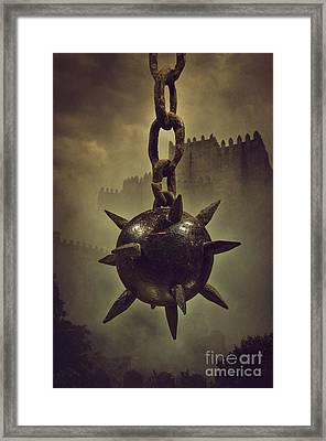 Medieval Spike Ball  Framed Print by Carlos Caetano