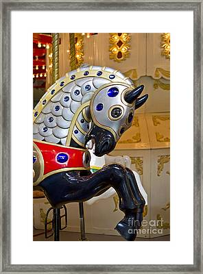 Framed Print featuring the photograph Medieval Stallion by Maria Janicki