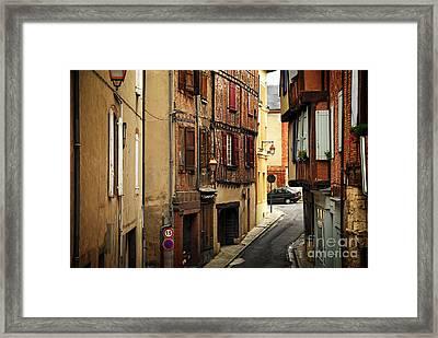 Medieval Street In Albi France Framed Print