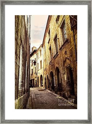 Medieval Street In Perigueux Framed Print by Elena Elisseeva