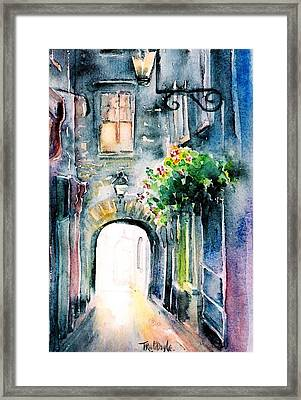 The Butter Slip  Medieval Street Kilkenny I Framed Print by Trudi Doyle