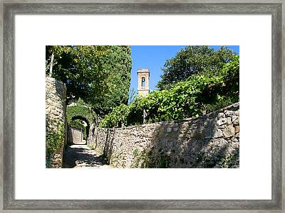 Medieval Streets Of Volpaia Chianti Tuscany Framed Print by Mathew Lodge
