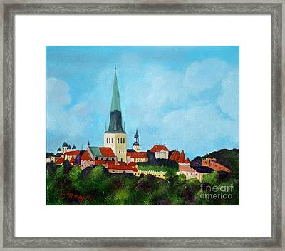 Medieval Tallinn Framed Print by Laurie Morgan